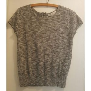 Ann Taylor LOFT | Gray Space Dyed Top